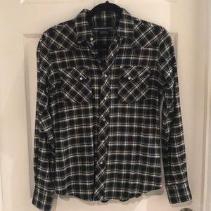 Ralph Lauren 100% Cotton Flannel Button Down